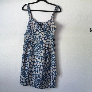 Marc by Marc Jacobs blue printed dress